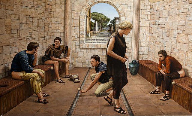 Baños Romanos Historia:Roman Toilet