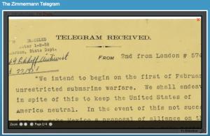 El telegrama a México