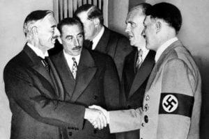 Chamberlain y Hitler