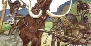 Man hunts mammoth