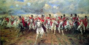 Caballería británica al contraataque.