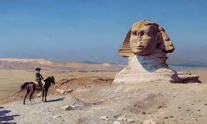 Napoleón frente a la esfinge de Giza