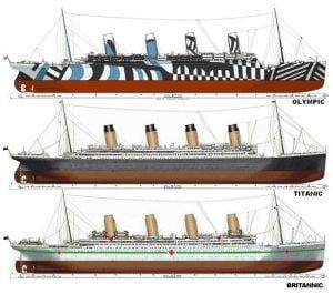 Olympic y sus hermanos, Britannic y Titanic