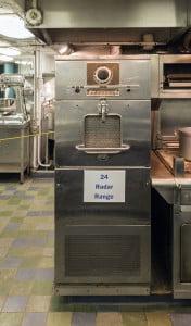 Uno de los primeros microondas