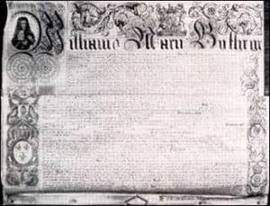 Acta constitutiva del Banco de Inglaterra.