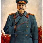 Stalin con mano en el pecho