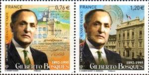 sellos postales Gilberto Bosques