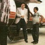 Escobar en su jet