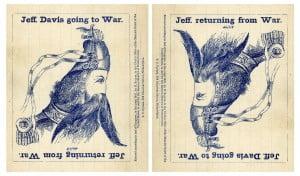 """Una postal que """"metamorfosea"""" a Jefferson Davis"""