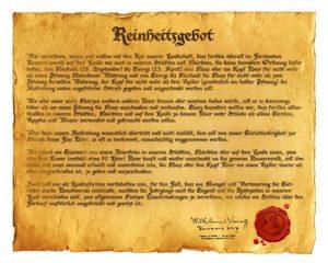 Reinheitsgebot. la ley de pureza de la cerveza
