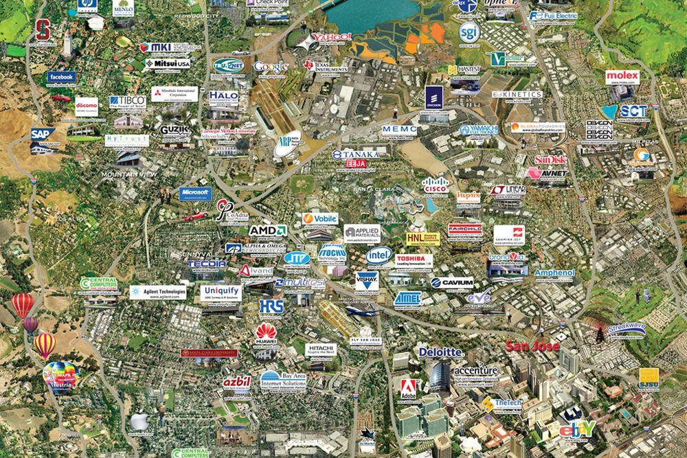 Algunas de las empresas en Silicon Valley