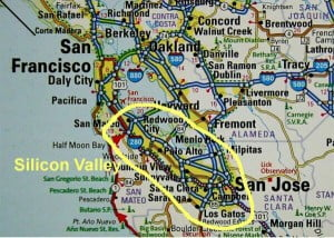 Silicon valley mapa