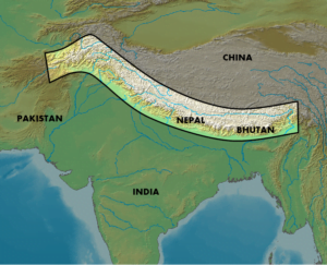 Mapa Himalayas