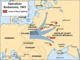 Mapa de la Operación Barbarossa