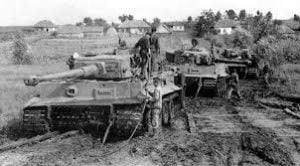 Tanque aleman atascado