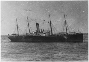 El RMS Californian llegando a la zona del hundimiento.