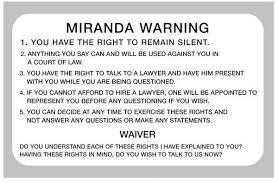 Advertencia Miranda