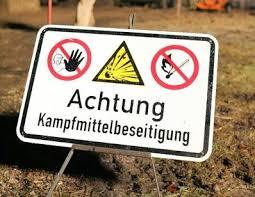 achtung peligro de bomba