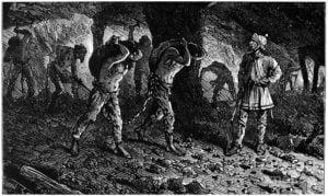 Esclavos en Roma, mineros
