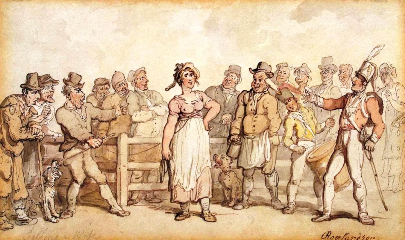 Británicos vendían esposas