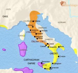 Mapa etruscos