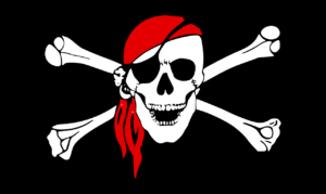 Jolly Roger parche en el ojo