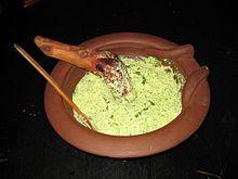 Moretum, queso con hierbs romano.