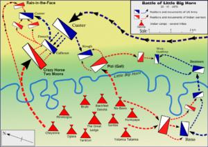 Mapa de la Batalla de Little Bighorn