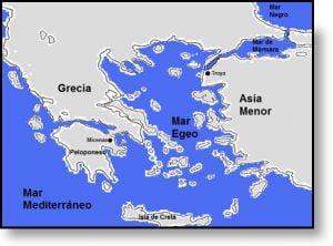 Creta en el Mar Egeo