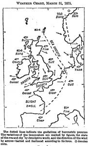 Primer mapa del tiempo