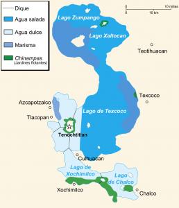 mapa chinampas