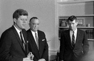 con Edgar Hoover, Director del FBI.