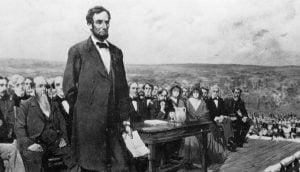 Lincoln en Gettysburg