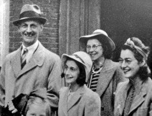 Otto, Ana, Edith y Margot Frank