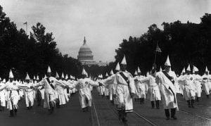 Rally del Ku Klux Klan en Washington, 1925.