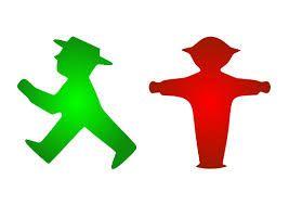 El hombrecito verde, y el rojo