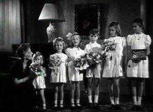 Magda Gebbels con sus hijos.