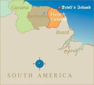 Mapa Isla del Diablo