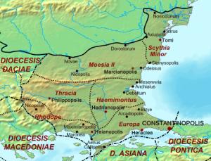 mapa de Tracia