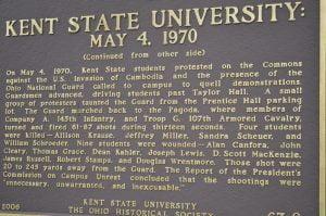 Placa en Kent State