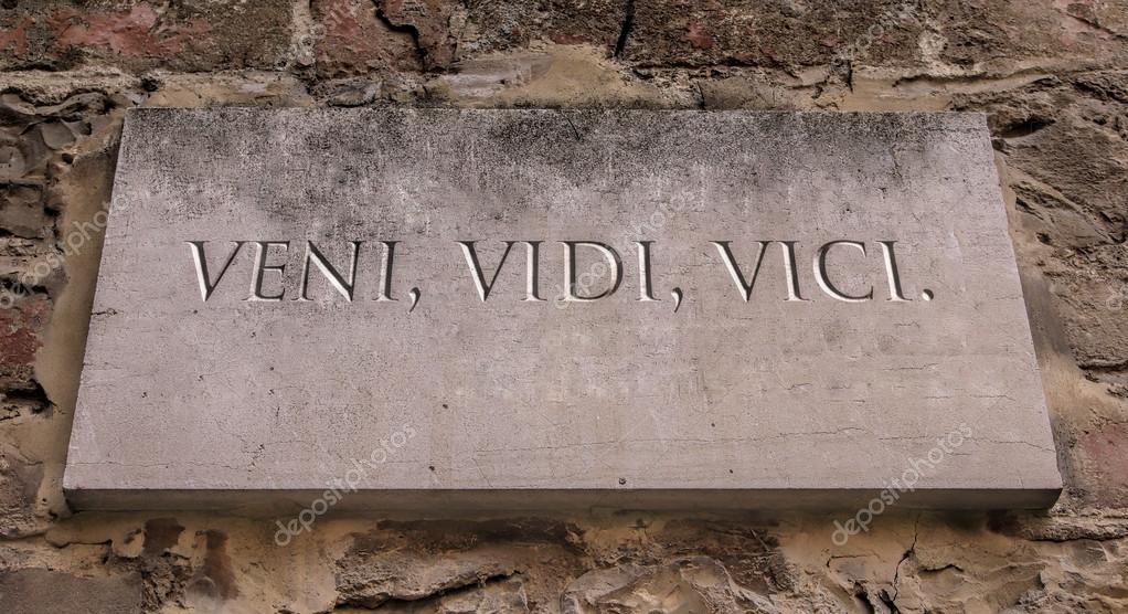 Veni vidi vici frases en latin