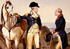 Alexander Hamilton con George Washington