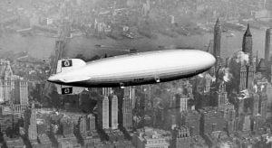 El Hindenburg sobre Manhattan