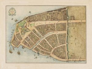Mapa de Nueva Amsterdam, de Castello