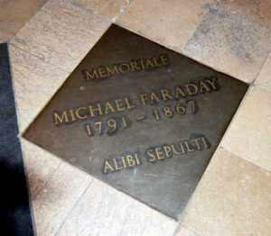Michael Faraday memorial Westminster Abbey