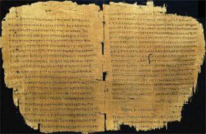 Acta diurna en papiro