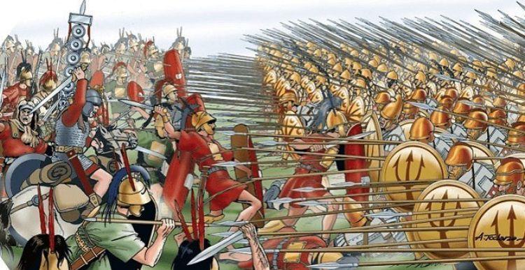 Legiones y falanges se enfrentan por primera vez, expansión romana